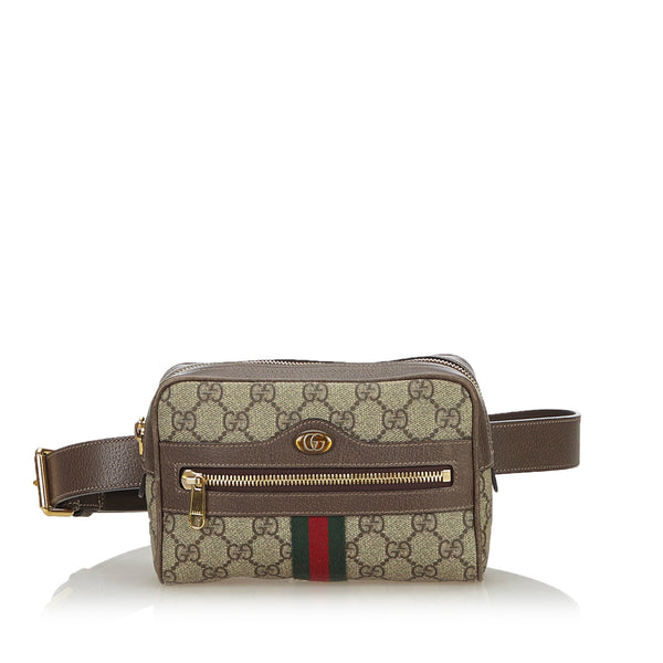 Buy & Consign Authentic Gucci GG Supreme Web Ophidia Belt Bag at The Plush Posh