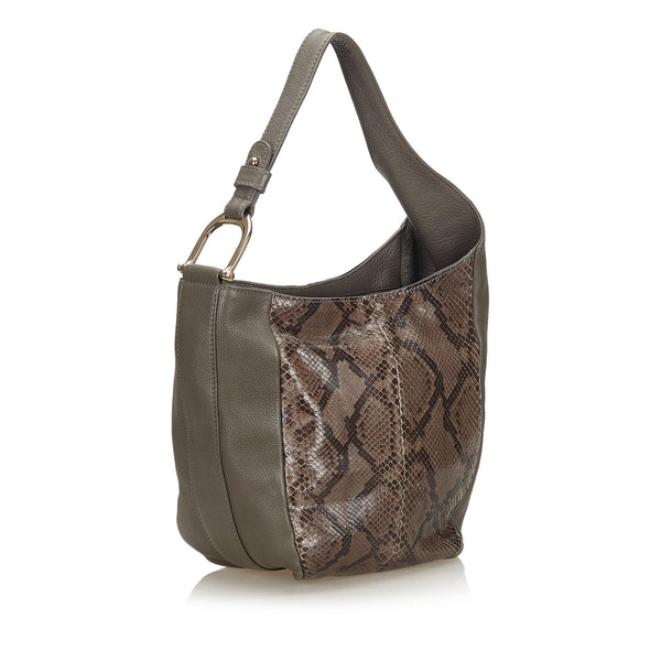 Buy & Consign Authentic Gucci Python Leather Greenwich Shoulder Bag at The Plush Posh