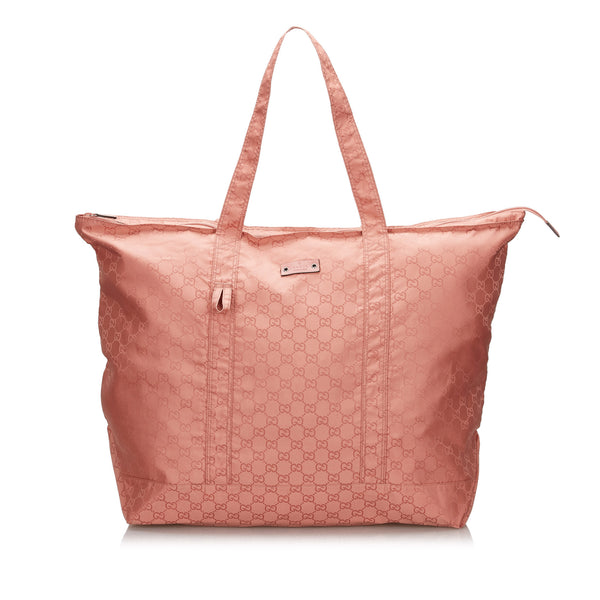 Buy & Consign Authentic Gucci GG Nylon Tote Bag Pink at The Plush Posh