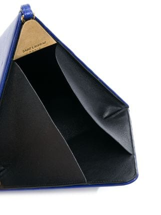 Buy & Consign Authentic YSL Pyramid Box in Lambskin Blue at The Plush Posh