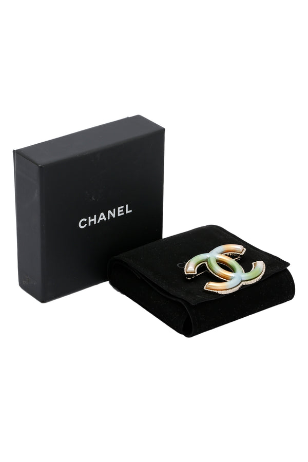 Chanel Metal CC Brooch Multicolor