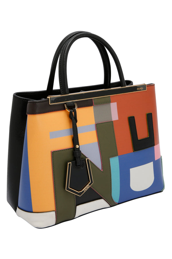 Fendi Mini 2Jours Bag Multi Colour Tote