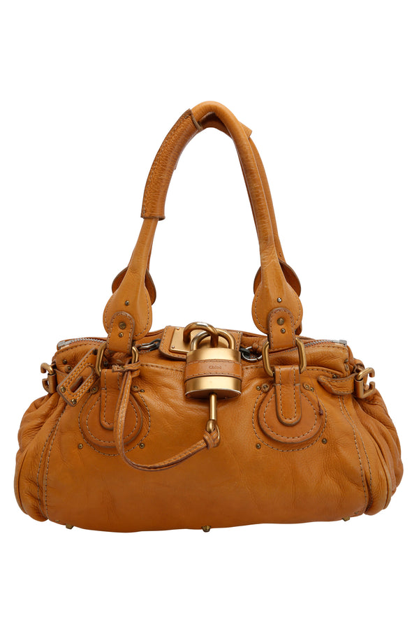 Chloe Tan Leather Medium Paddington Satchel