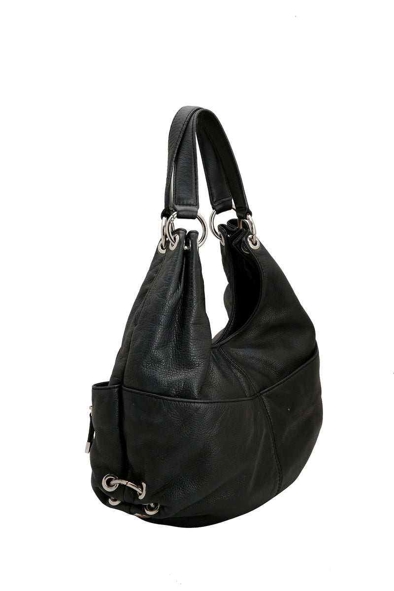 Michael Kors Black Leather Large Layton Hobo