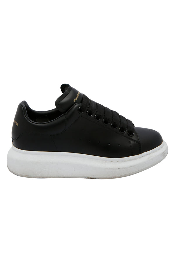 Alexander McQueen Black Leather Larry Sneakers