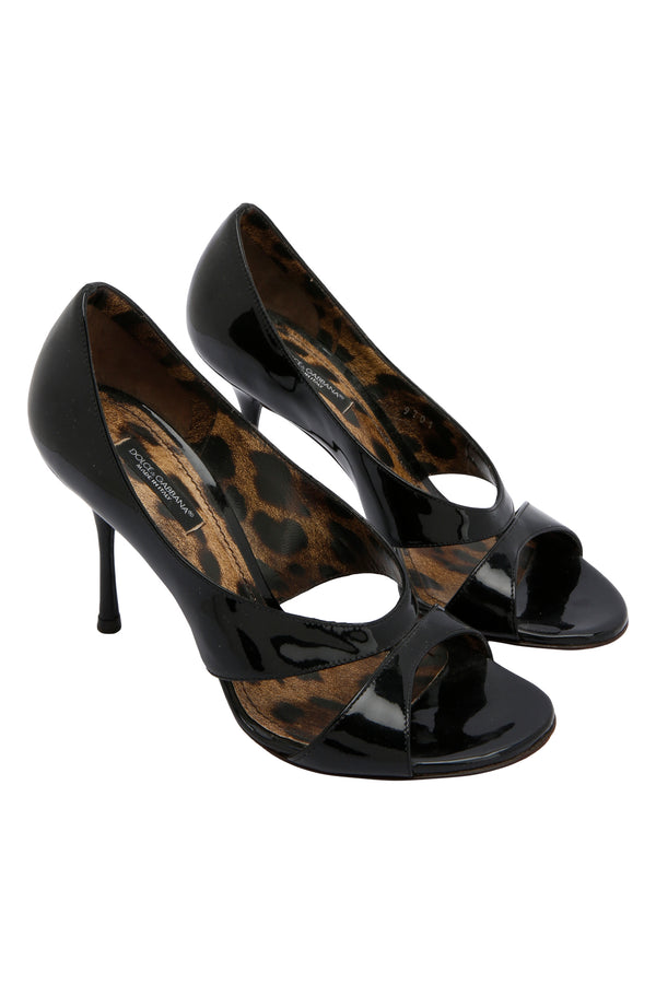 Dolce & Gabbana Black Patent Leather Pumps