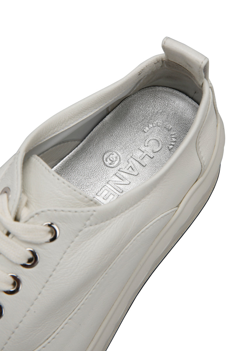 Chanel Interlocking CC Logo Leather Chunky Sneakers