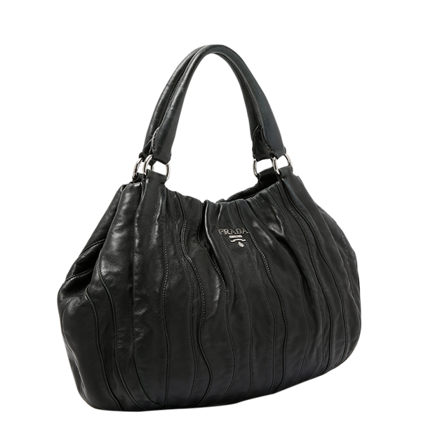 Buy & Consign Authentic Prada Nappa Waves Hobo Black at The Plush Posh