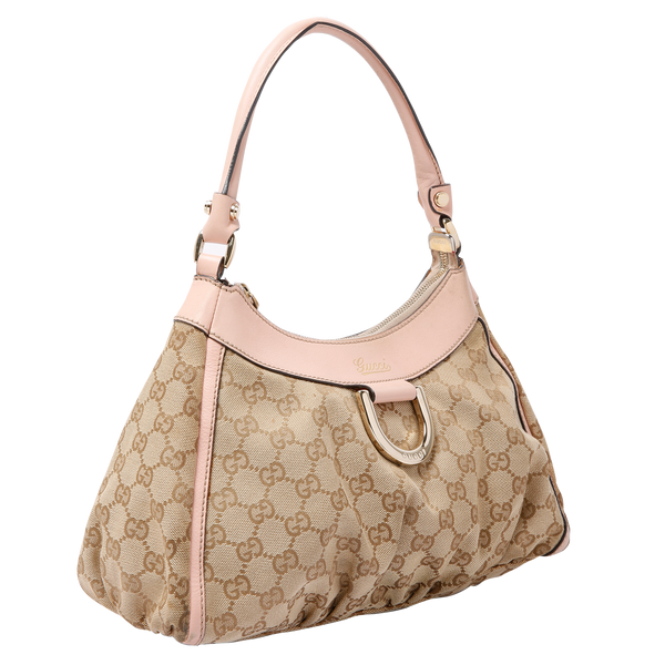Buy & Consign Authentic Gucci GG Canvas Medium D-Ring Hobo at The Plush Posh