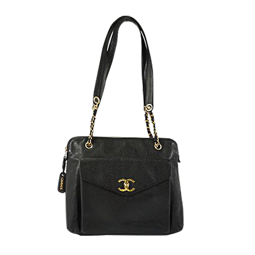 Buy & Consign Authentic Chanel Black Caviar Skin Shoulder Bag at The Plush Posh