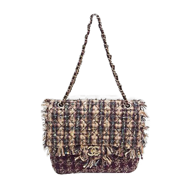 Buy & Consign Authentic Chanel Tweed Shoulder Bag Brown at The Plush Posh
