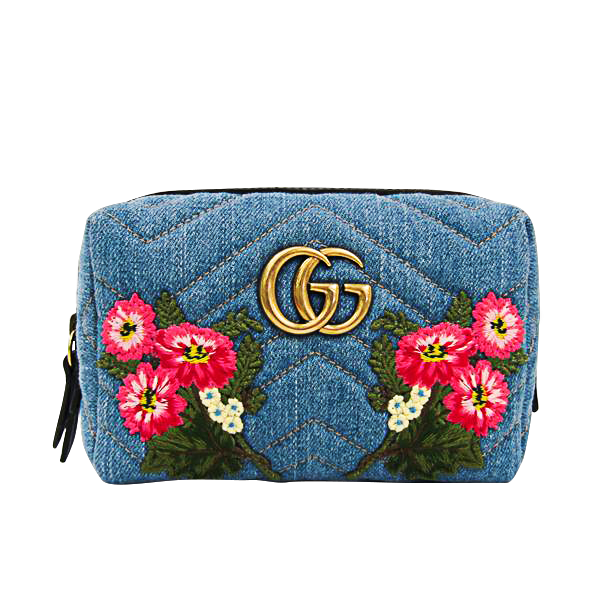 Buy & Consign Authentic Gucci GG Marmont Denim Pouch at The Plush Posh