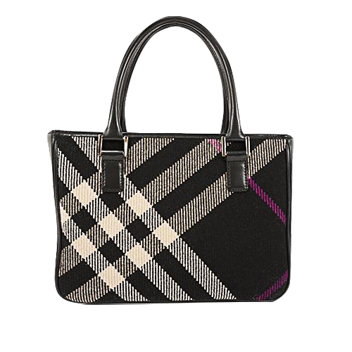 Buy & Consign Authentic Burberry Nova Check in Black & Grey Coated Tote at The Plush Posh