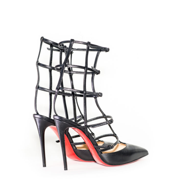 Buy & Consign Authentic Christian Louboutin Kadreyana cage Sandals 38 at The Plush Posh