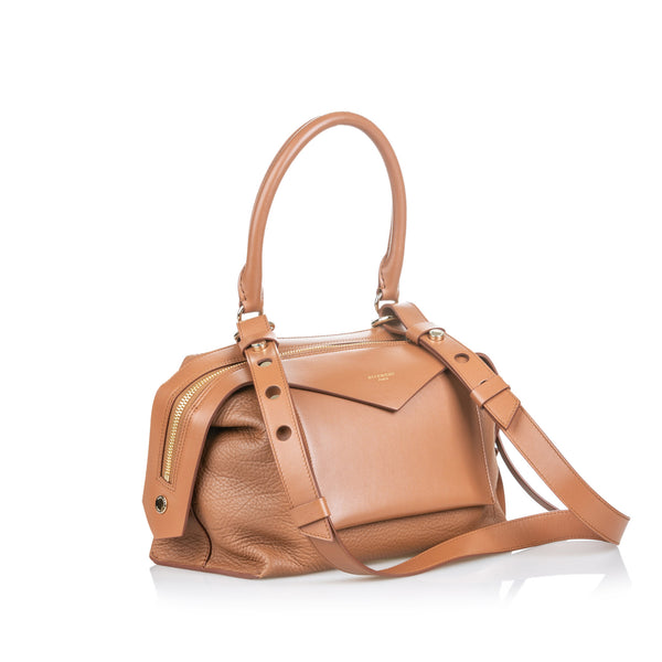 Buy & Consign Authentic Givenchy	Leather Sway Small Satchel at The Plush Posh