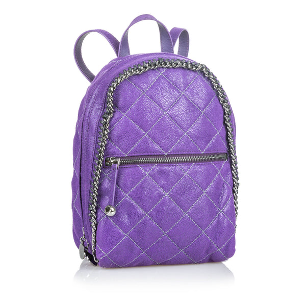 Buy & Consign Authentic Stella McCartney Quilted Leather Falabella Backpack at The Plush Posh