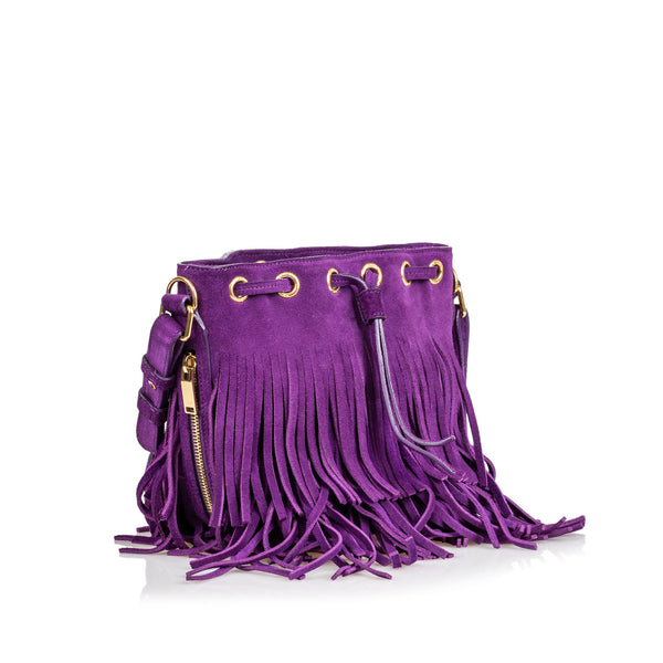 Buy & Consign Authentic YSL Suede Emmanuelle at The Plush Posh