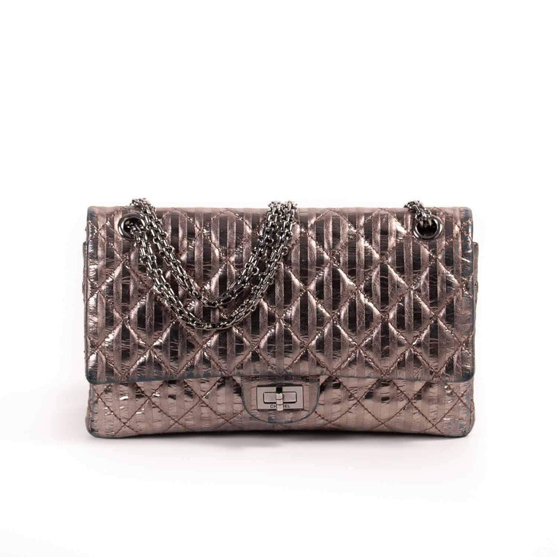 Buy & Consign Authentic Chanel Metallic Aged Calfskin 2.55 Reissue 226 Flap Light Bronze at The Plush Posh