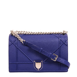 Buy & Consign Authentic Dior Grained Calfskin Large Diorama Blue at The Plush Posh