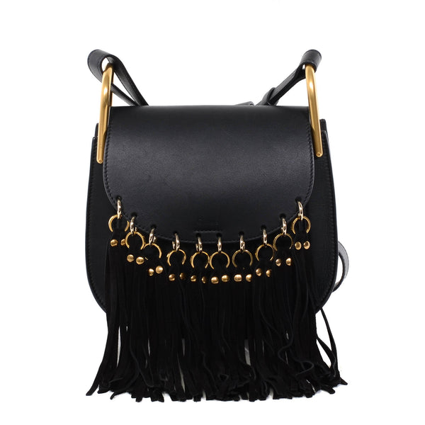 Buy & Consign Authentic Chloe Hudson Black Leather Fringe Cross Body Bag at The Plush Posh