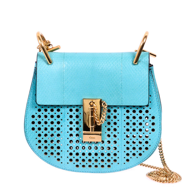 Buy & Consign Authentic Chloe Lambskin Mini Drew Water snake Perforated Crossbody at The Plush Posh