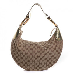 Gucci Monogram Gold Bamboo Ring Hobo