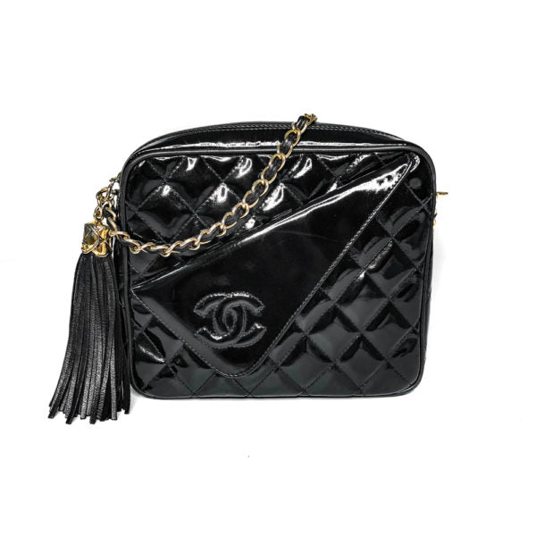 Chanel Black Patent Leather Camera Bag 13 Series