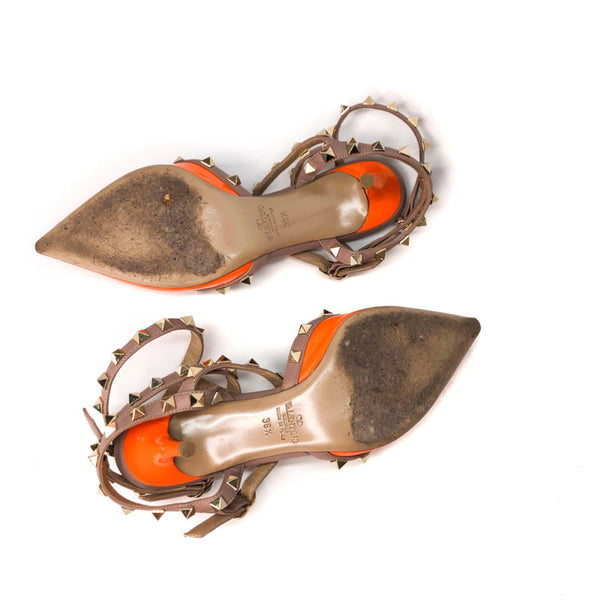 Buy & Consign Authentic Valentino Classic Rockstud in Orange Size 36.5 at The Plush Posh