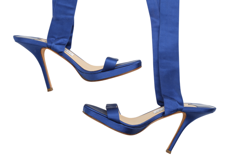 Buy & Consign Authentic Jimmy Choo Satin Sandals Blue at The Plush Posh