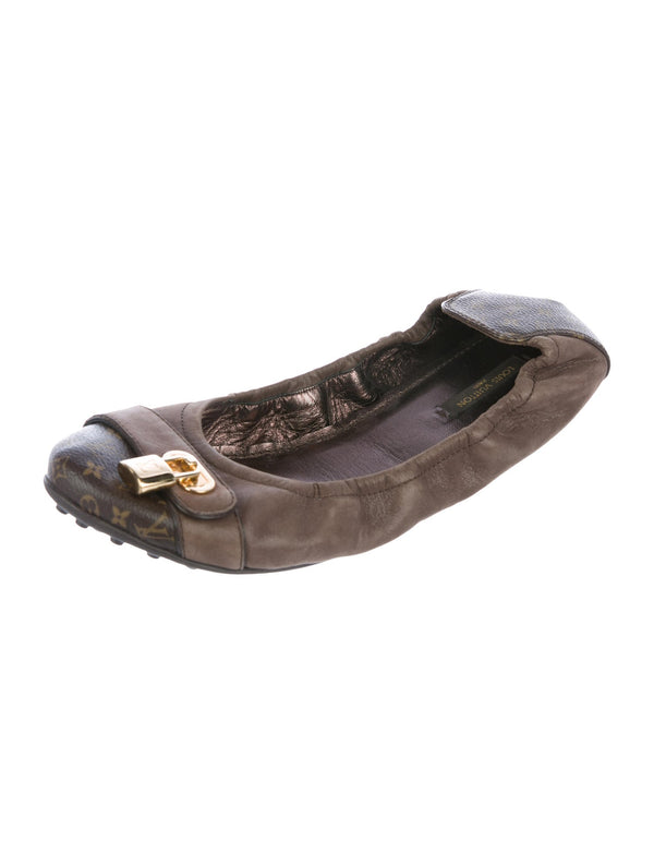 Louis Vuitton Monogram Ballet Flats Brown 37.5
