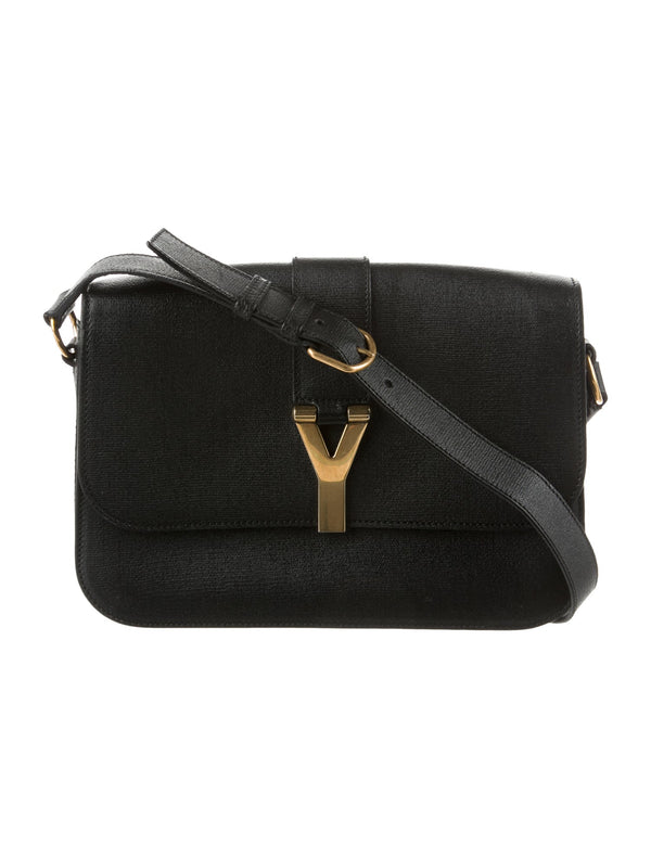YSL Large Chyc Flap Bag Black