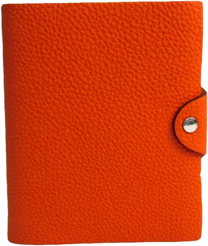 Buy & Consign Authentic Hermes Ulysse Planner Cover Orange Mini at The Plush Posh