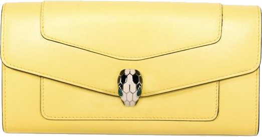 Buy & Consign Authentic Bvlgari Yellow Serpenti Forever Wallet at The Plush Posh