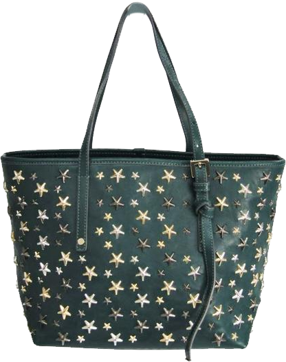 Buy & Consign Authentic Jimmy Choo Green Leather Star Studded Small Sasha Tote at The Plush Posh