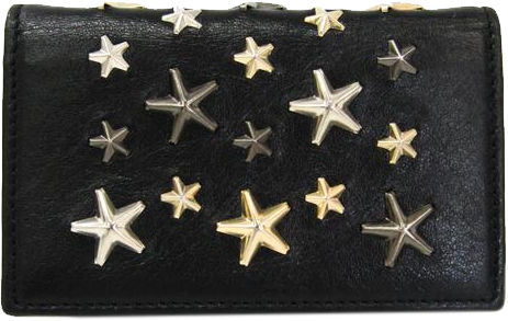 Buy & Consign Authentic Jimmy Choo Leather Studded Card Case Black at The Plush Posh