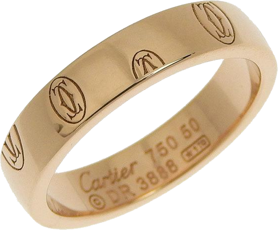 Buy & Consign Authentic Cartier 18K Pink Gold Logo De Cartier Band at The Plush Posh
