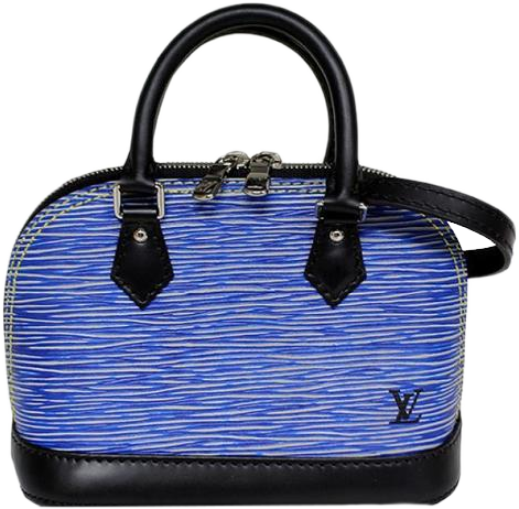 Buy & Consign Authentic Louis Vuitton Nano Alma Hand bag Epi Leather Blue at The Plush Posh