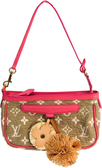 Buy & Consign Authentic Louis Vuitton Rose Monogram Limited Edition Sabbia Pochette at The Plush Posh