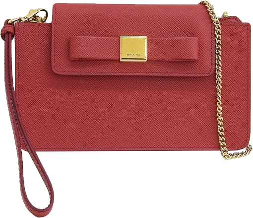 Buy & Consign Authentic Prada Safiano Smartphone Case Chain Shoulder Bag at The Plush Posh