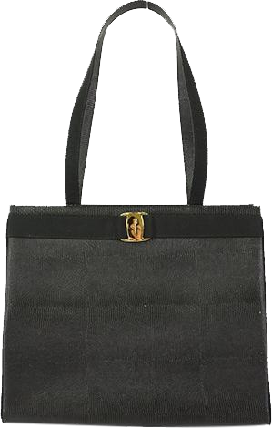 Buy & Consign Authentic Salvatore Ferragamo Black Lizard Embossed Vara Shoulder Bag at The Plush Posh
