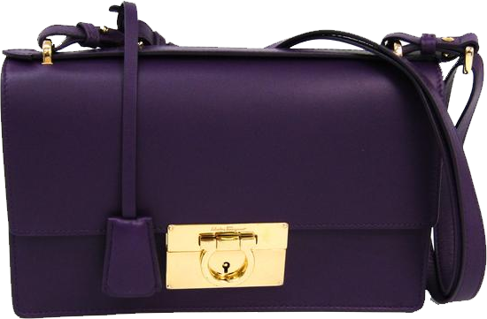 Buy & Consign Authentic Salvatore Ferragamo Gancini Purple Flap Open Shoulder Bag at The Plush Posh