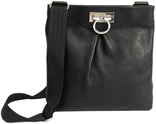 Buy & Consign Authentic Salvatore Ferragamo Gancini Black Shoulder Bag at The Plush Posh