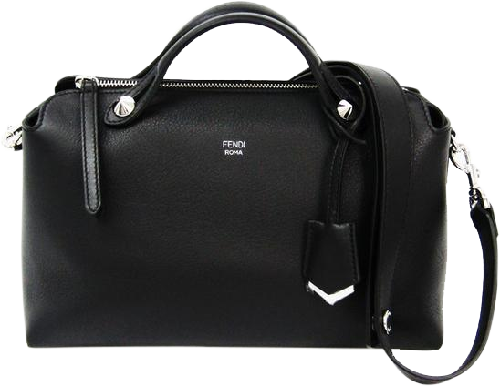 Buy & Consign Authentic Fendi Calfskin By The Way Boston Black at The Plush Posh