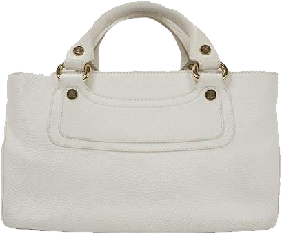 Buy & Consign Authentic Celine Boogie Bag In White at The Plush Posh