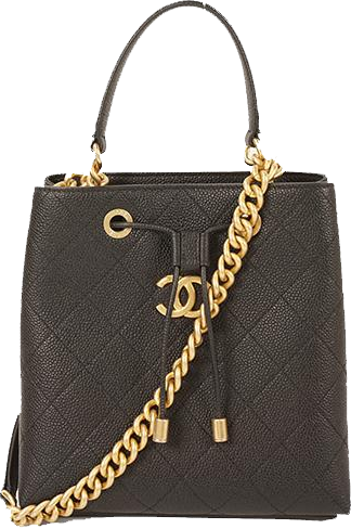 Buy & Consign Authentic Chanel Drawstring Bag with Gold Chain Strap at The Plush Posh