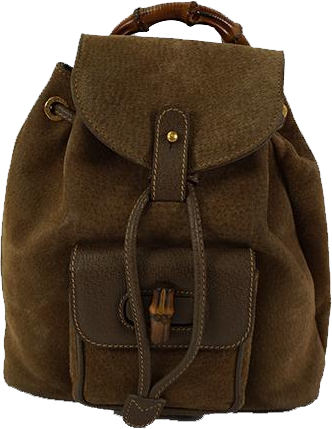 Buy & Consign Authentic Gucci Bamboo Handle Suede Back Pack at The Plush Posh