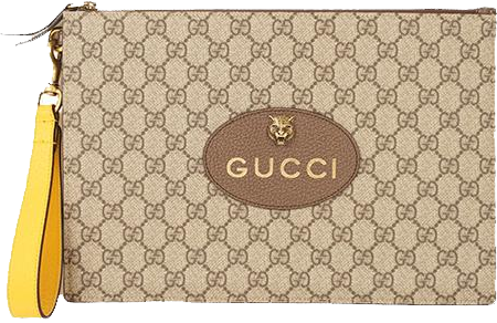Buy & Consign Authentic Gucci GG Supreme Clutch Bag at The Plush Posh