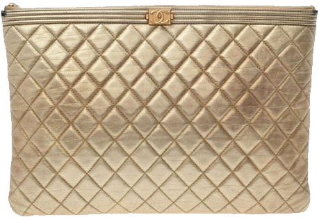 Buy & Consign Authentic Chanel Matrasse Lambskin Boy Pouch at The Plush Posh