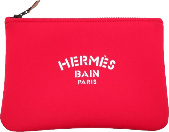 Buy & Consign Authentic Hermes Neovan Flat Pouch PM Red at The Plush Posh