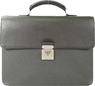 Buy & Consign Authentic Louis Vuitton Ardoise Taiga Leather Laguito Briefcase at The Plush Posh